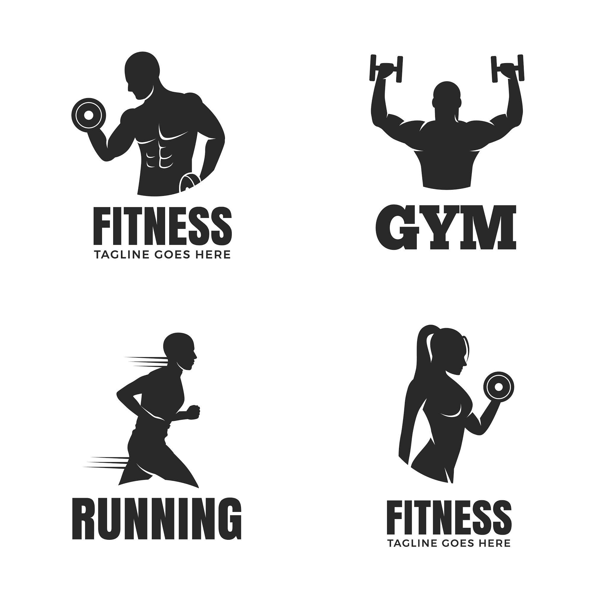 Download logo for gyms and athletics in eps and psd format