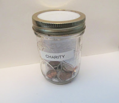 My money Jar for Charity-Vickie's Kitchen and Garden