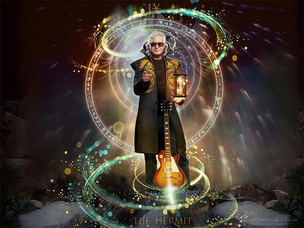 Rock Bands And Guitar Heroes Jimmy Page As The Hermit Tarot