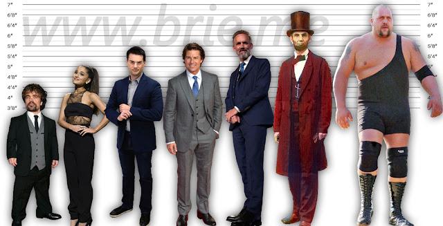 Peter Dinklage, Ariana Grande, Ben Shapiro, Tom Cruise, Jordan Peterson, Abraham Lincoln, and Big Show