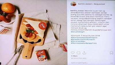 Cara Membuat Konten Instagram Agar Banyak Disukai, Bareng Mombassador SGM Eksplor Bogor