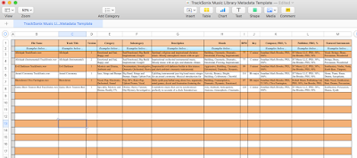 Music Library Metadata Spreadsheet Template (Download)