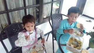 Menu makan bersama saat lebaran
