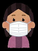 マスクを付けた人のイラスト(東南アジア人女性)