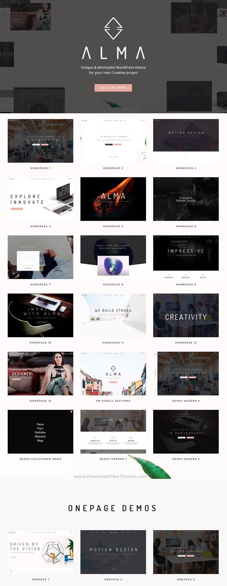 Minimalist Multi-Use WordPress Theme