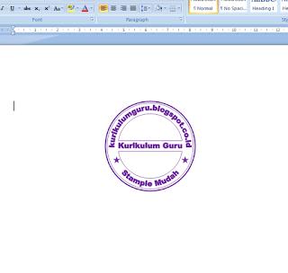Tutorial Membuat Stample Dengan Menggunakan MS. Office Word