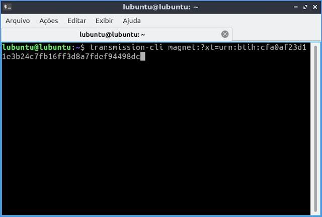 Como baixar torrent pelo terminal no Ubuntu