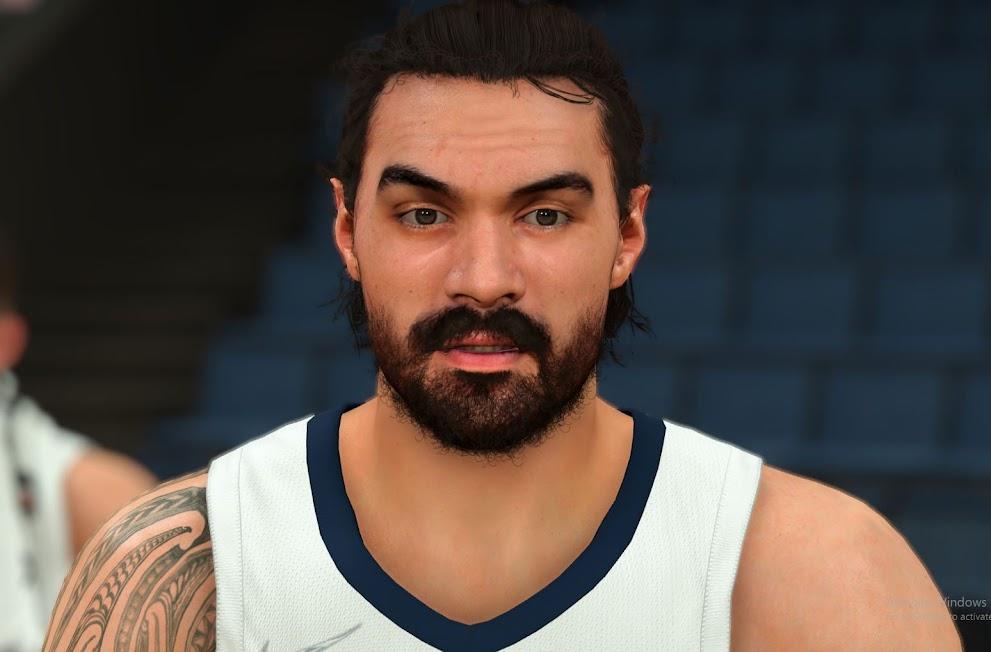 NBA 2K22 Steven Adams Cyberface and Body Model by FIRE2K