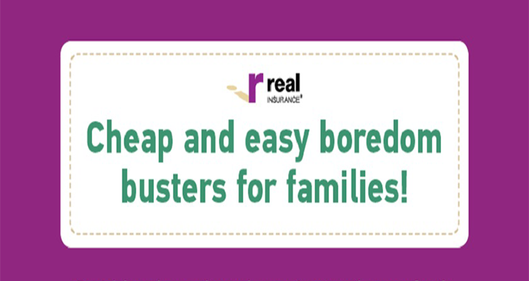 Boredom busters for families #infographic