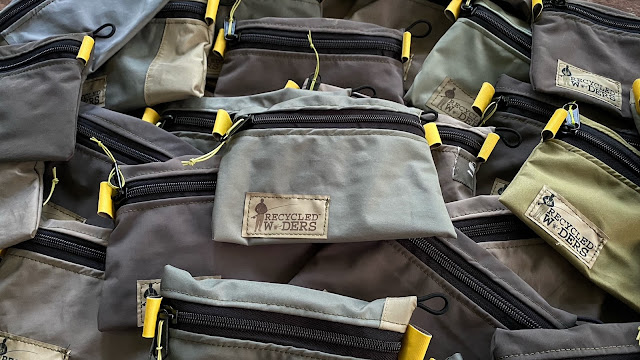 BACK IN STOCK - Recycled Waders X T.F.M. Zippered Stash Bags
