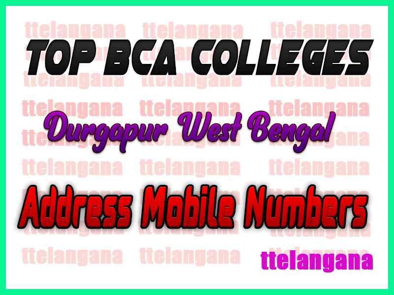 Top BCA Colleges in Durgapur West Bengal