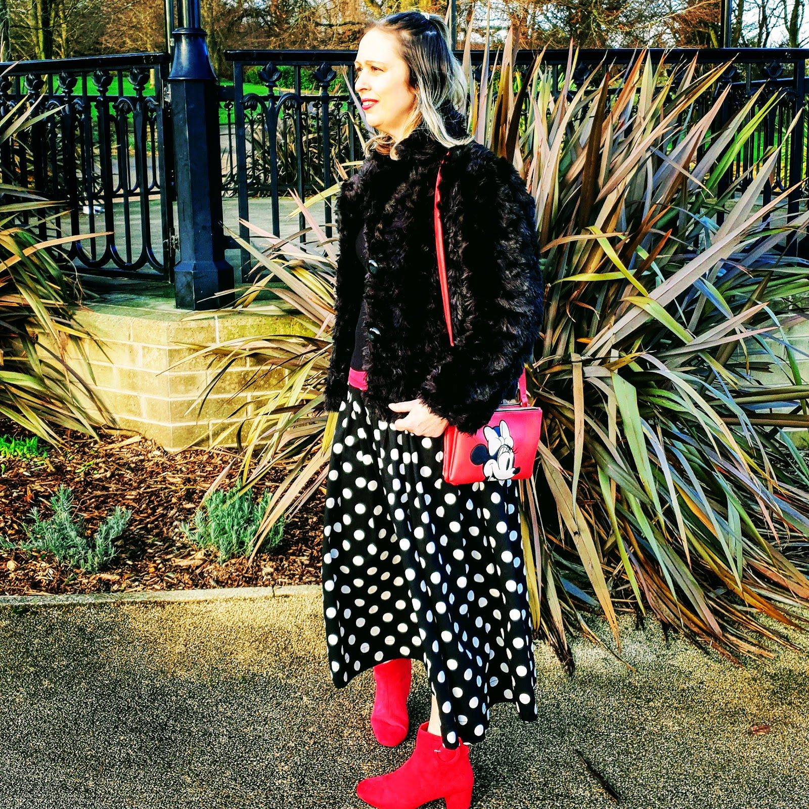 Polka Dots And A Pop Of Red To Brighten Up Your Day