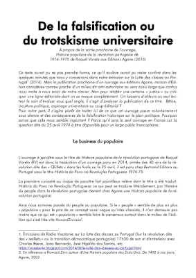 De la falsification ou du trotskisme universitaire