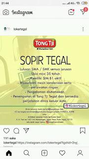 Lowongan Kerja Tong Tji Tegal