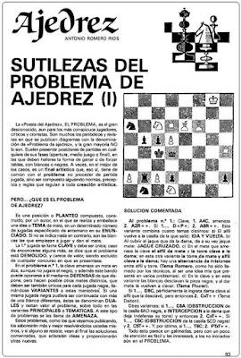 Problemas de mate de Antonio Romero Ríos en la revista Ejército, junio1986