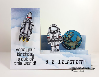 North Coast Creations Stamp Set:Rocket Man, North Coast Creations Custom Dies: Space Man