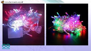 Running LED di Pasaran Dengan Tombol