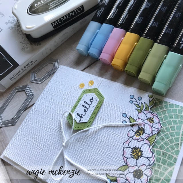 #JOSTTT006 Design Team Inspirations | Design Team Inspiration for June 2019 using Bloom & Grow and Mosaic Mood DSP (supplies) | Nature's INKspirations by Angie McKenzie