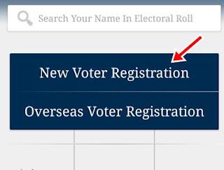 New voter registration par clic kare