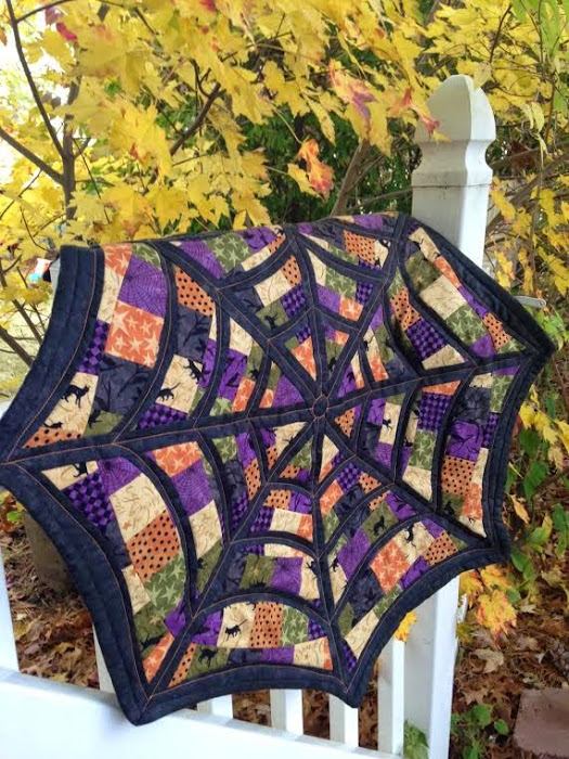 Spider Web Quilt-Along designed by Pat Broe of Life in the Scrapatch