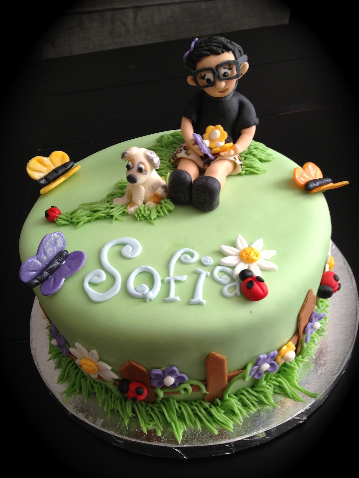 Garden Birthday Cake   PoppyCake Boutique