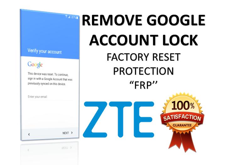 Remove Google Account Lock ZTE Axon 7 A2017G Android 6 0 1 via USB
