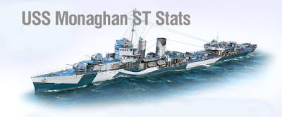 World of Warships Tier VI DD, USS Monaghan - New Stats