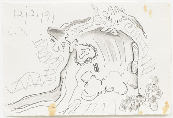 Carroll Dunham Untitled (12/21/91), 1991