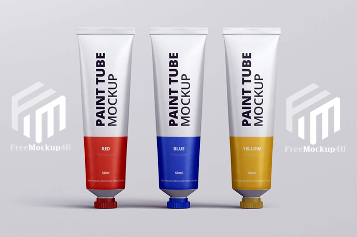 08 Paint Tube Mockup Psd Template Elements With Texture Action and Style