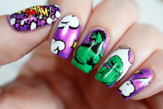 The Incredible Hulk nerdy nails comic book Marvel
