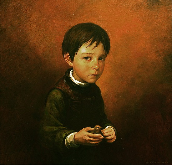 "arte contemporáneo, pintura, ""Lost Chick"" by Igor Melnikov, 2004."