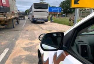 Ônibus apreendido em Guanambi