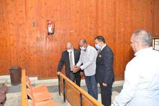 رئيس جامعة أسيوط يتفقد أعمال إنشاء مركز النيل للتنوير والإشعاع الحضارى
