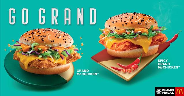 Harga McDonald's Grand McChicken Burger Mcd