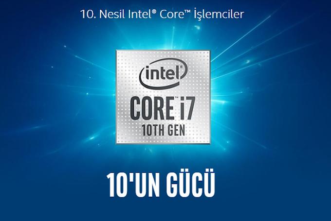 10.Nesil Intel Core İşlemciler