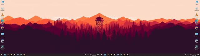 سبان إعداد خلفية الشاشة المزدوجة