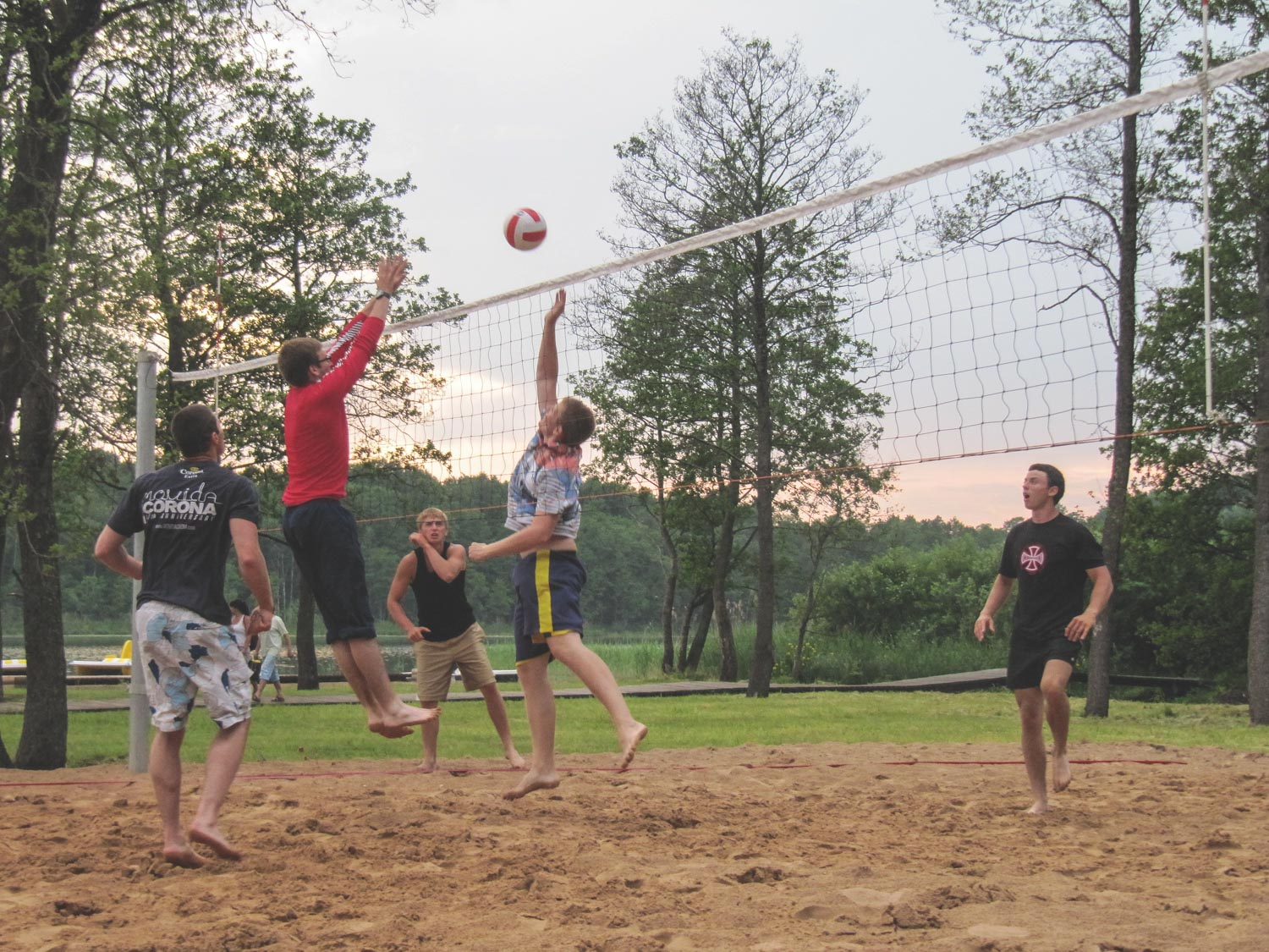 Playing volleyball for recovery