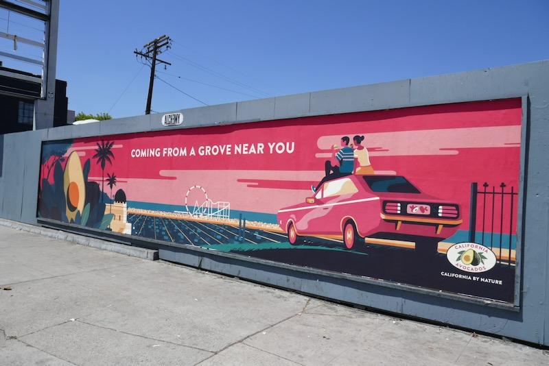California Avocados street poster