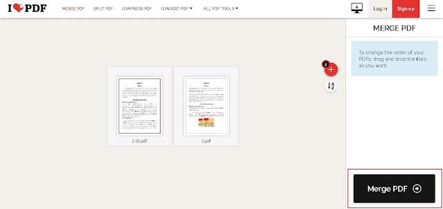ilovepdf.com - click on Merge PDF