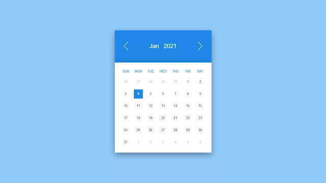Top 5 Awesome HTML & CSS Calendar Inspiration