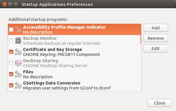 редакция на Startup Application Preferences