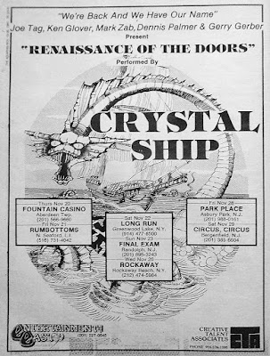 Crystal Ship club line up ad