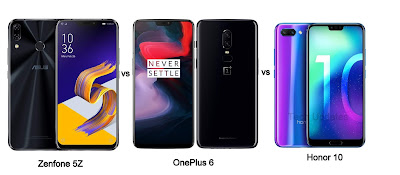 Asus Zenfone 5Z vs OnePlus 6 vs Honor 10