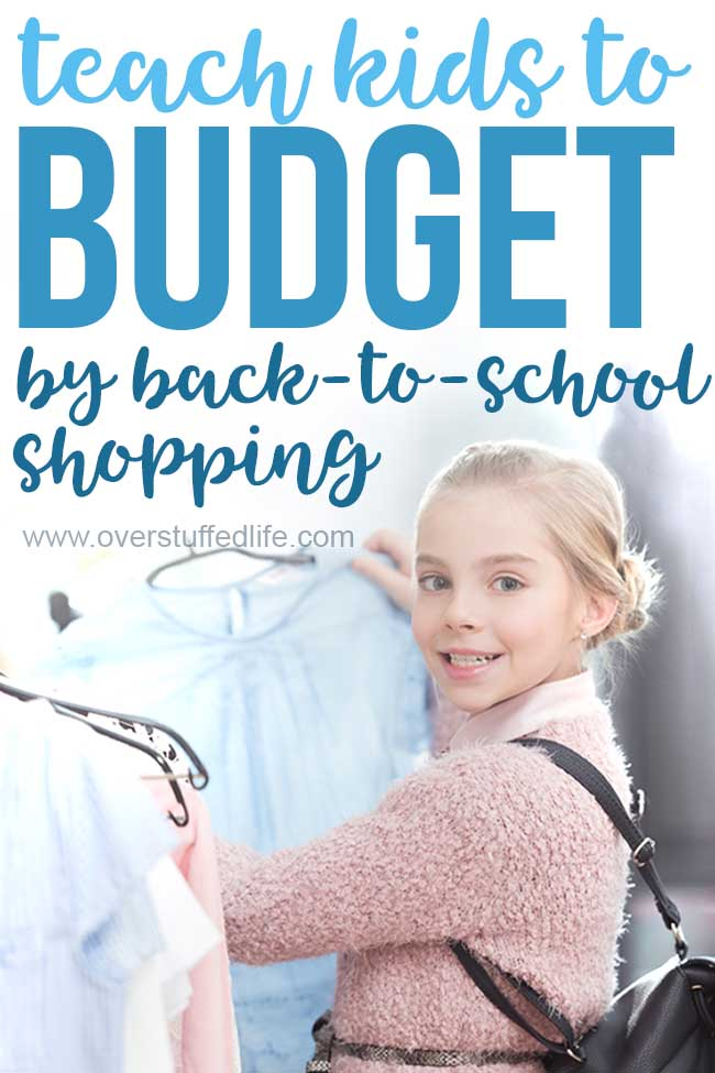 How to use back-to-school shopping as a lesson in sticking to a budget. Teach your kids budgeting principles and how to make the best choices by letting them do it themselves. It's a great money management activity for kids!