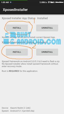 Cara Install Framework Xposed Installer di Xiaomi Redmi 3/Pro