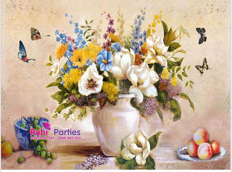 Tranh son dau so hoa tai Hang Bai