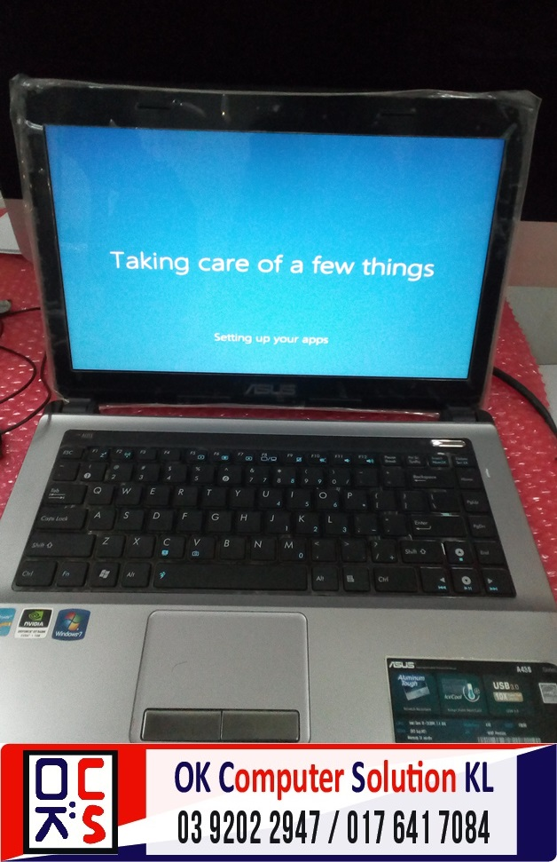 [SOLVED] STUCK AT WINDOWS ASUS A43S | REPAIR LAPTOP CHERAS 4
