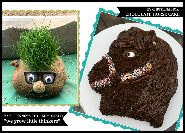 Tutorial on how to make grass head craft project and a horse cake