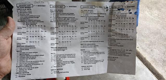 Kindergaten report card image