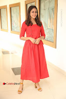 Actress Lavanya Tripathi Latest Pos in Red Dress at Radha Movie Success Meet .COM 0048.JPG